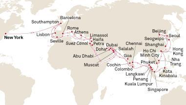 蓝莓评测 | 在海上住100天是什么体验?2019年出发环球邮轮评测-蓝莓评测